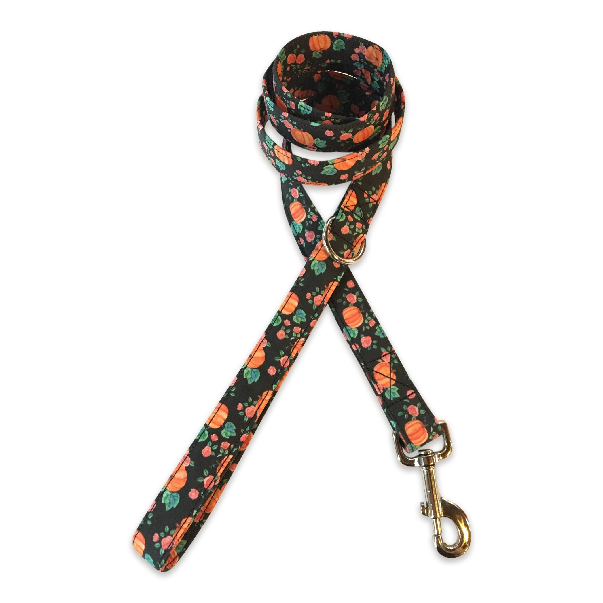 Pumpkins & Roses Dog Leash