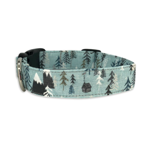 Winter Hikes Dog Collar