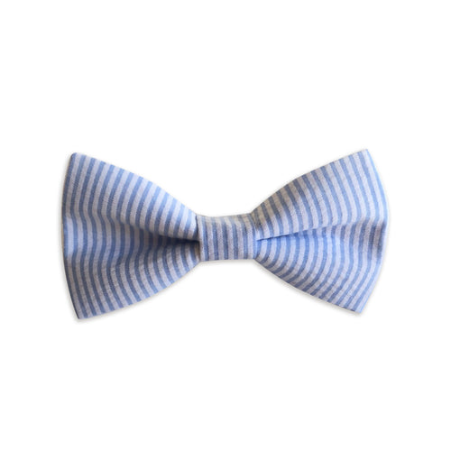 Baby Blue Seersucker Bow Tie