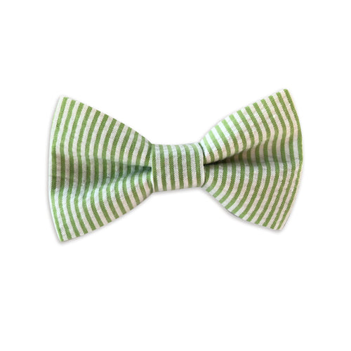 Lime Seersucker Bow Tie