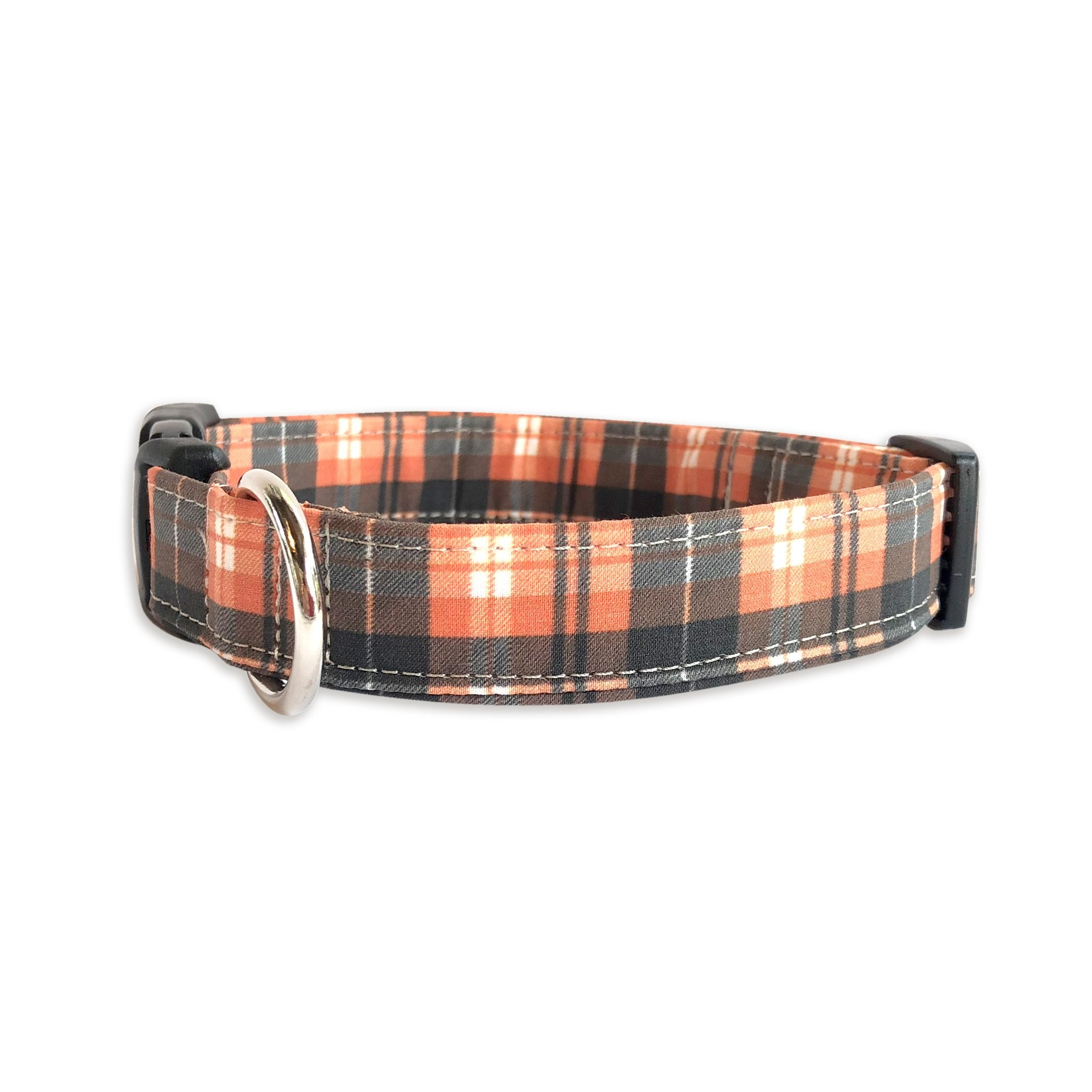 Orange Plaid Collar