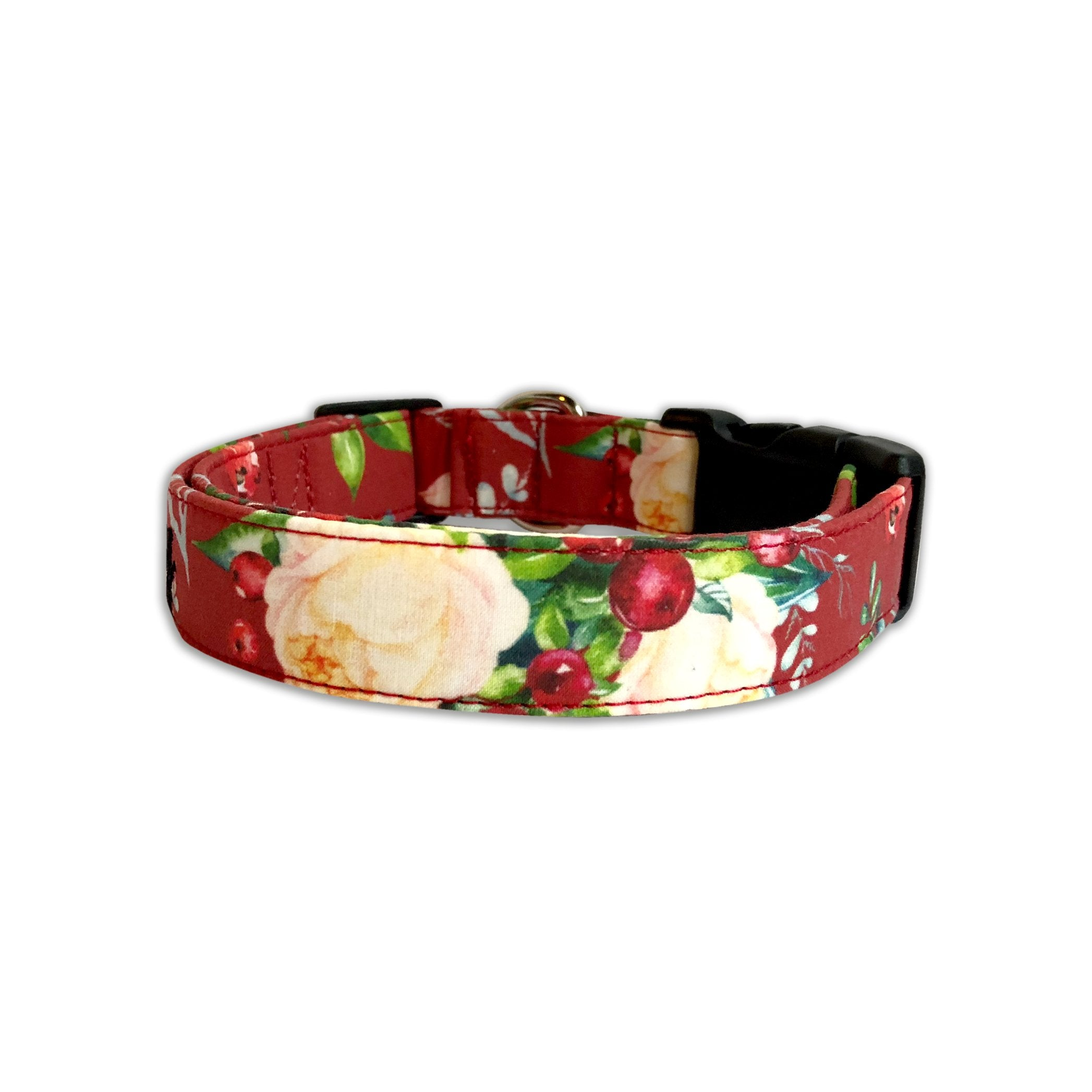 Cranberry Christmas Floral Collar