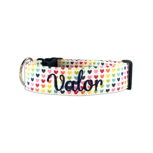 Rainbow Hearts Collar