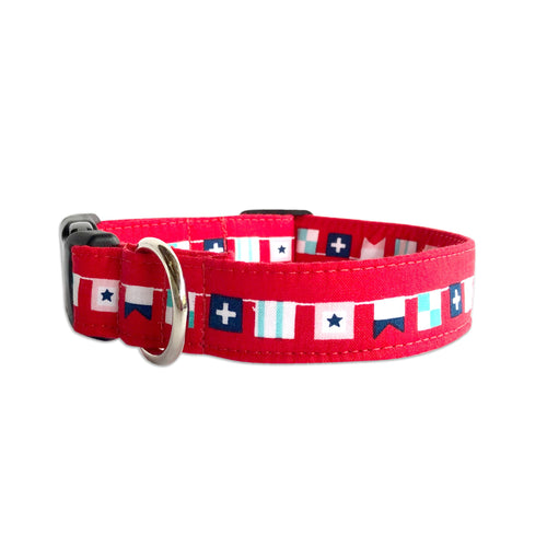 Red Sailor Dog Collar