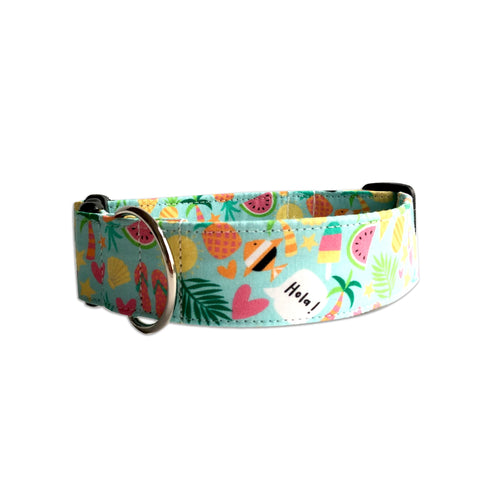 Hola Beaches Dog Collar