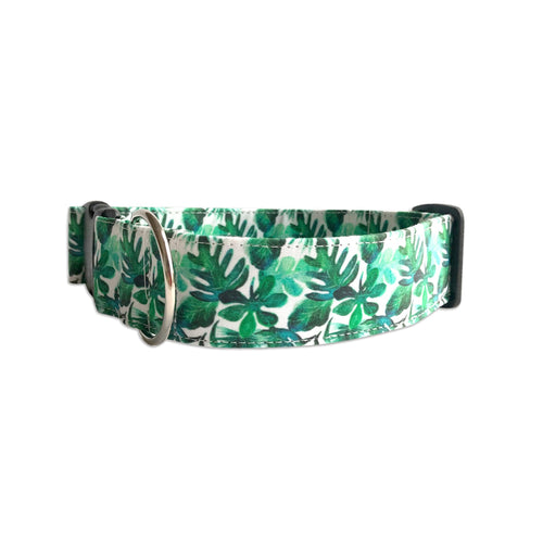 Island Leaves Dog Collar