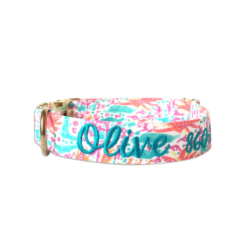 Coral Beach Dog Collar