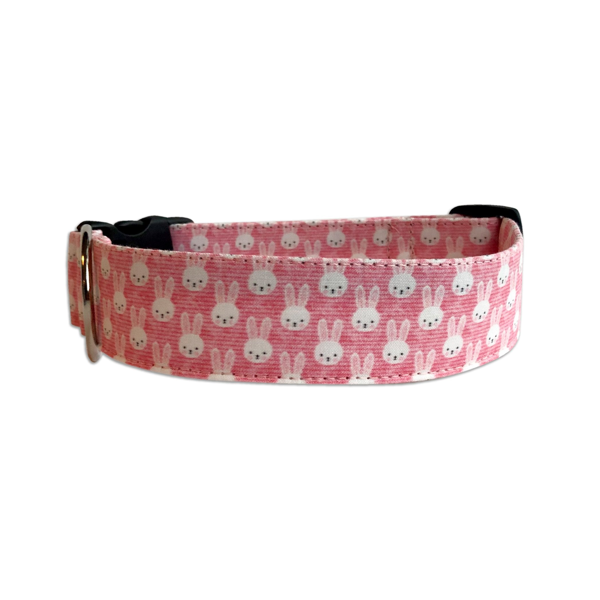 Pink Easter Bunny Personalized Collar