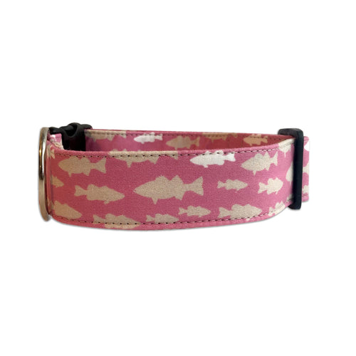 She's Gone Fishin' Personalized Dog Collar