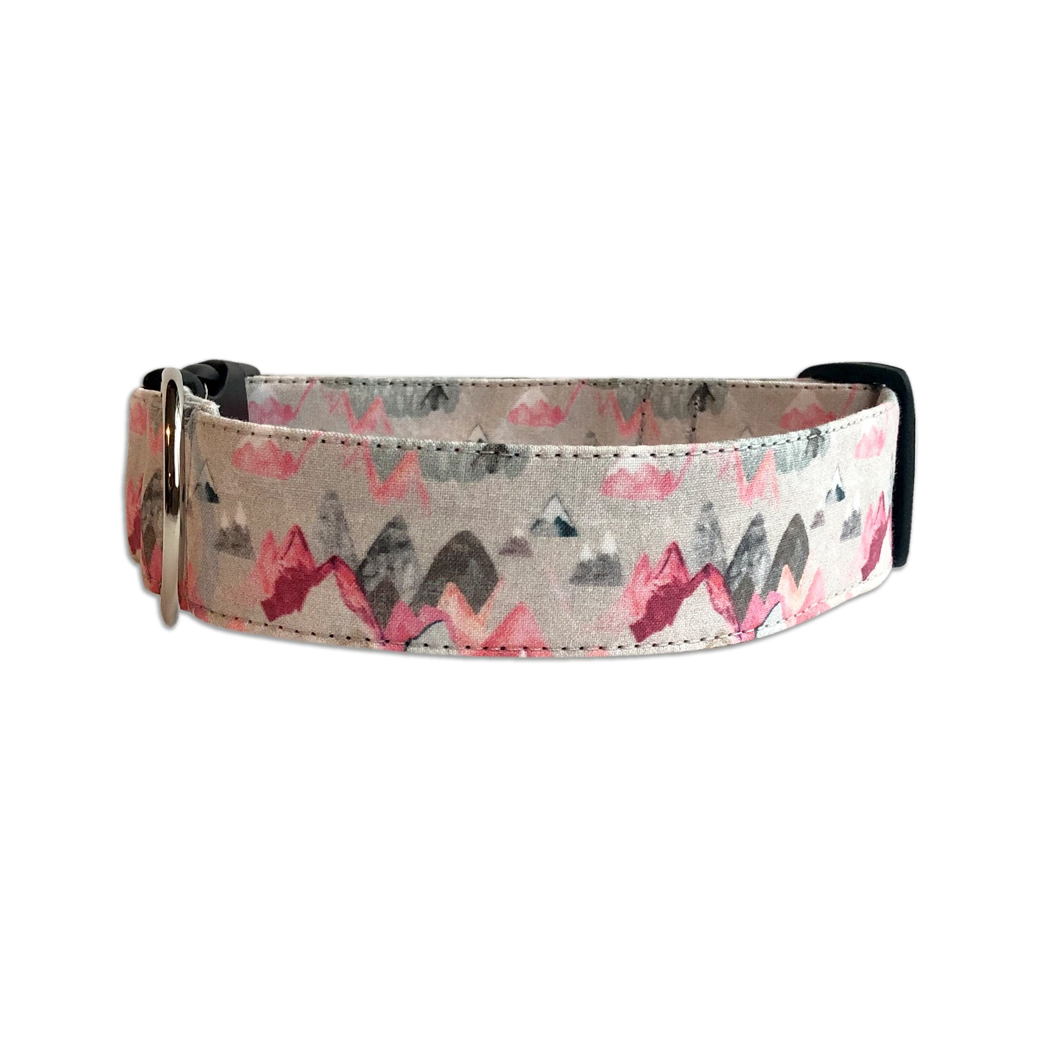 Pink Mountain Personalized Collar