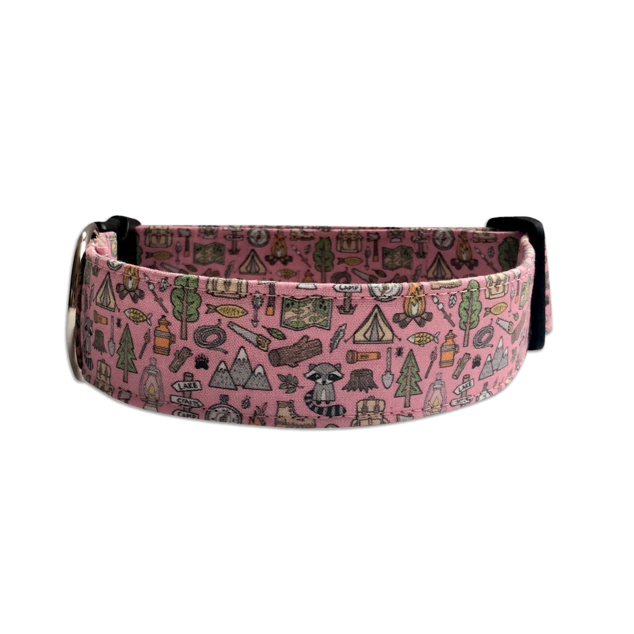 Girly Camping Dog Collar