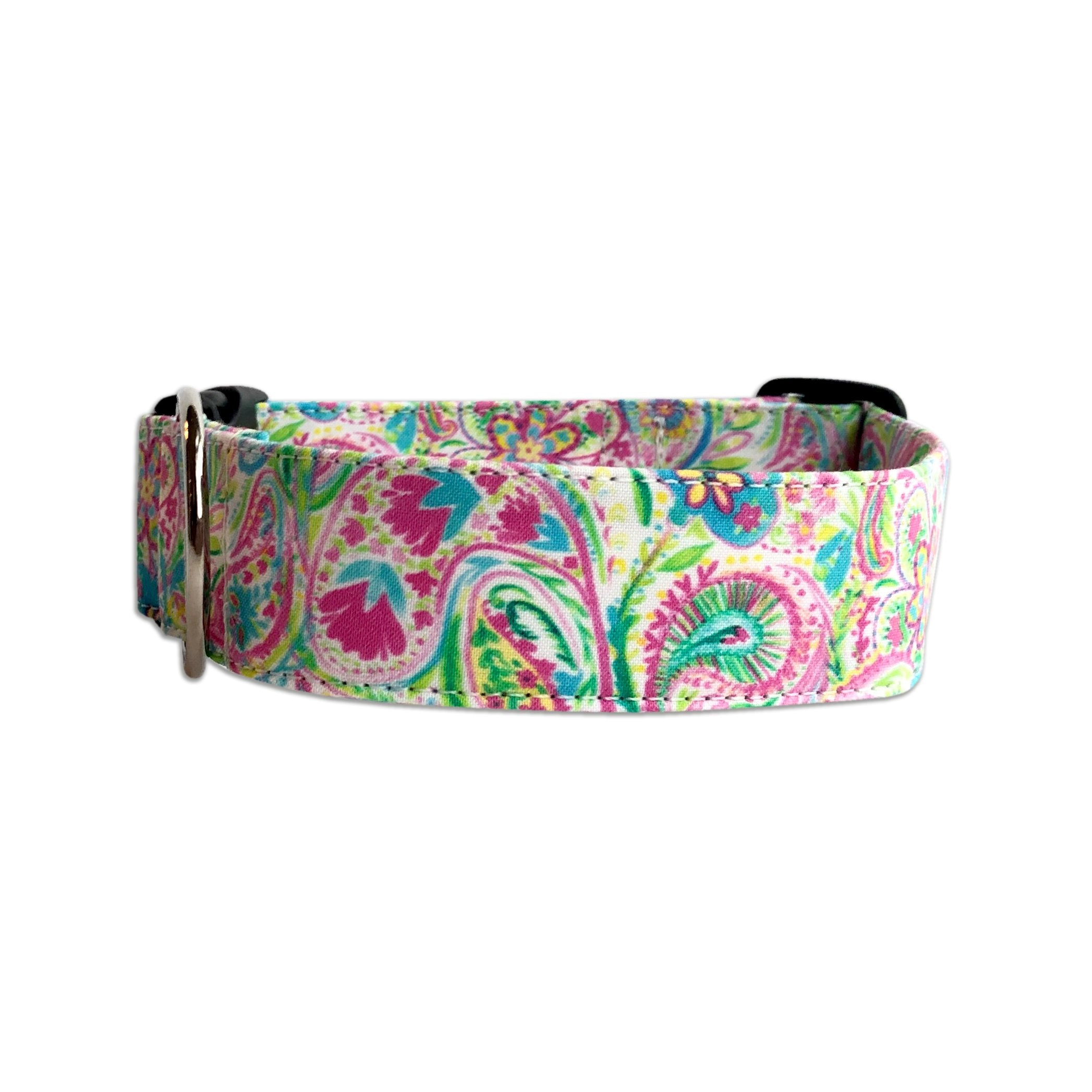 Summer Paisley Dog Collar