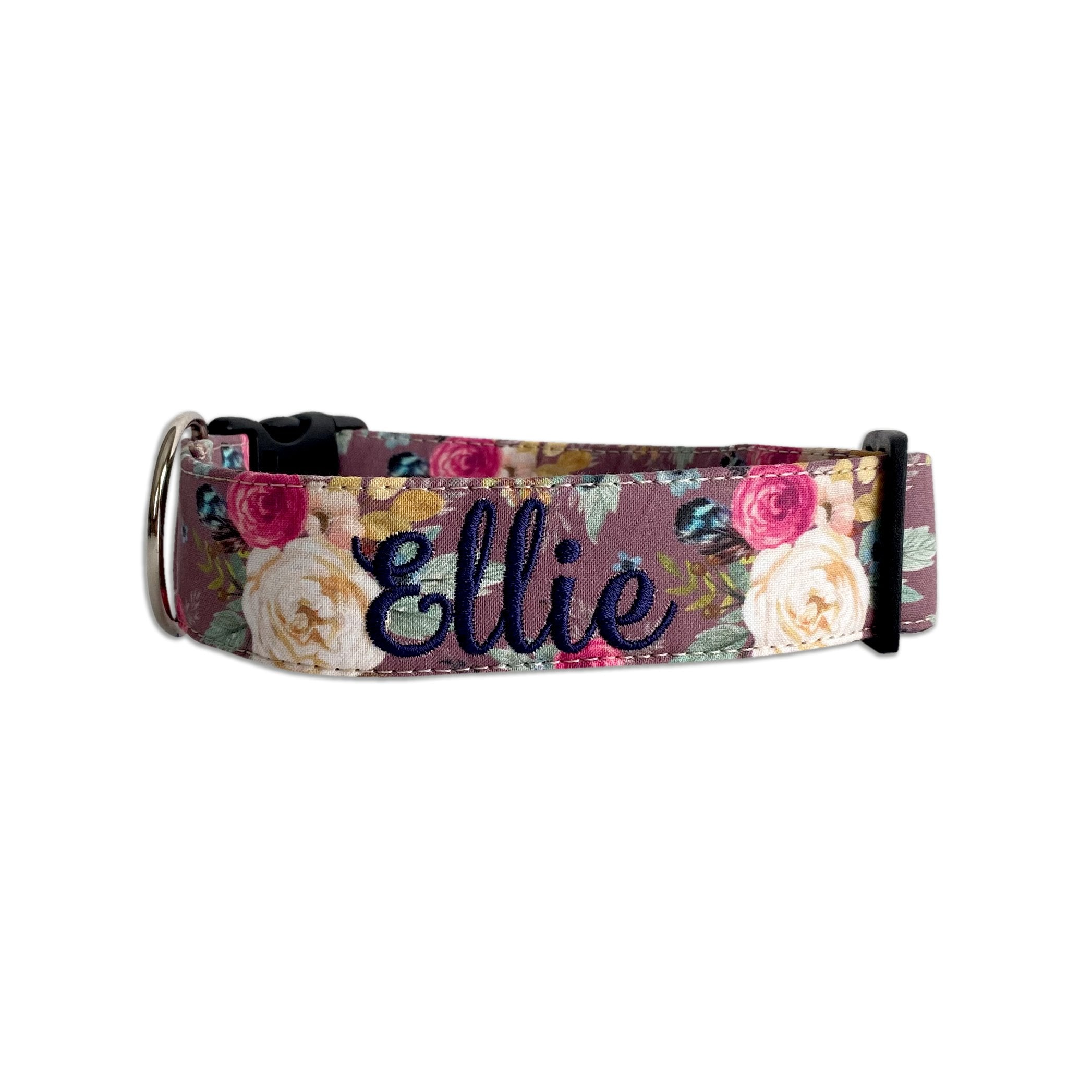 Fall Feather Floral Dog Collar