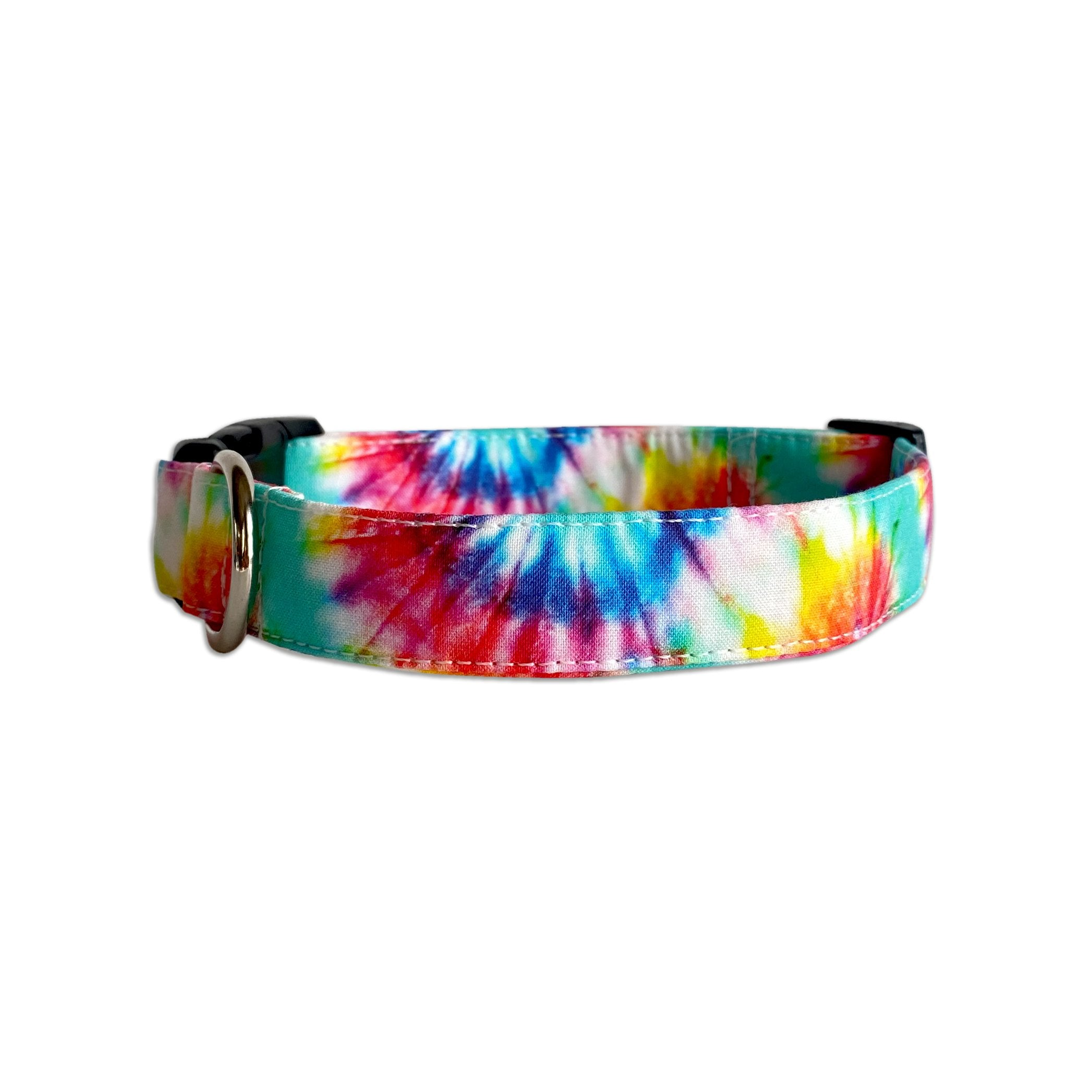 Summer Tie Dye Dog Collar