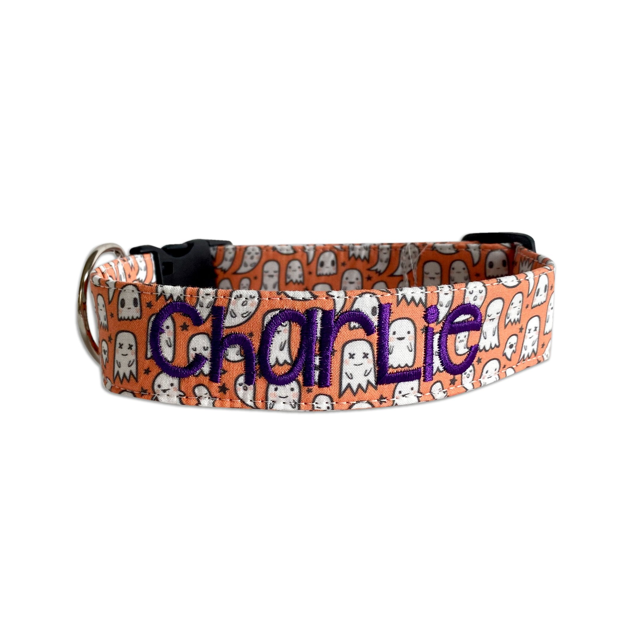 Happy Little Ghosts Halloween Dog Collar