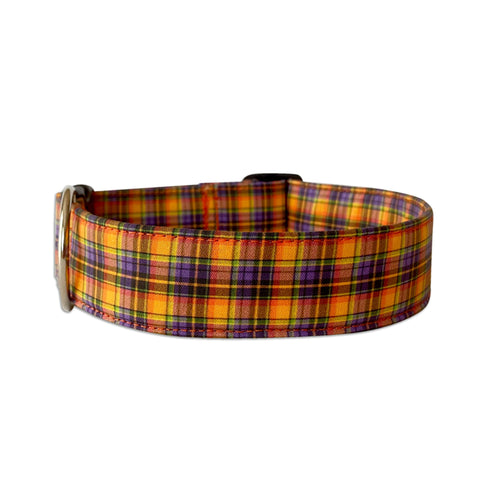 Halloween Plaid Dog Collar