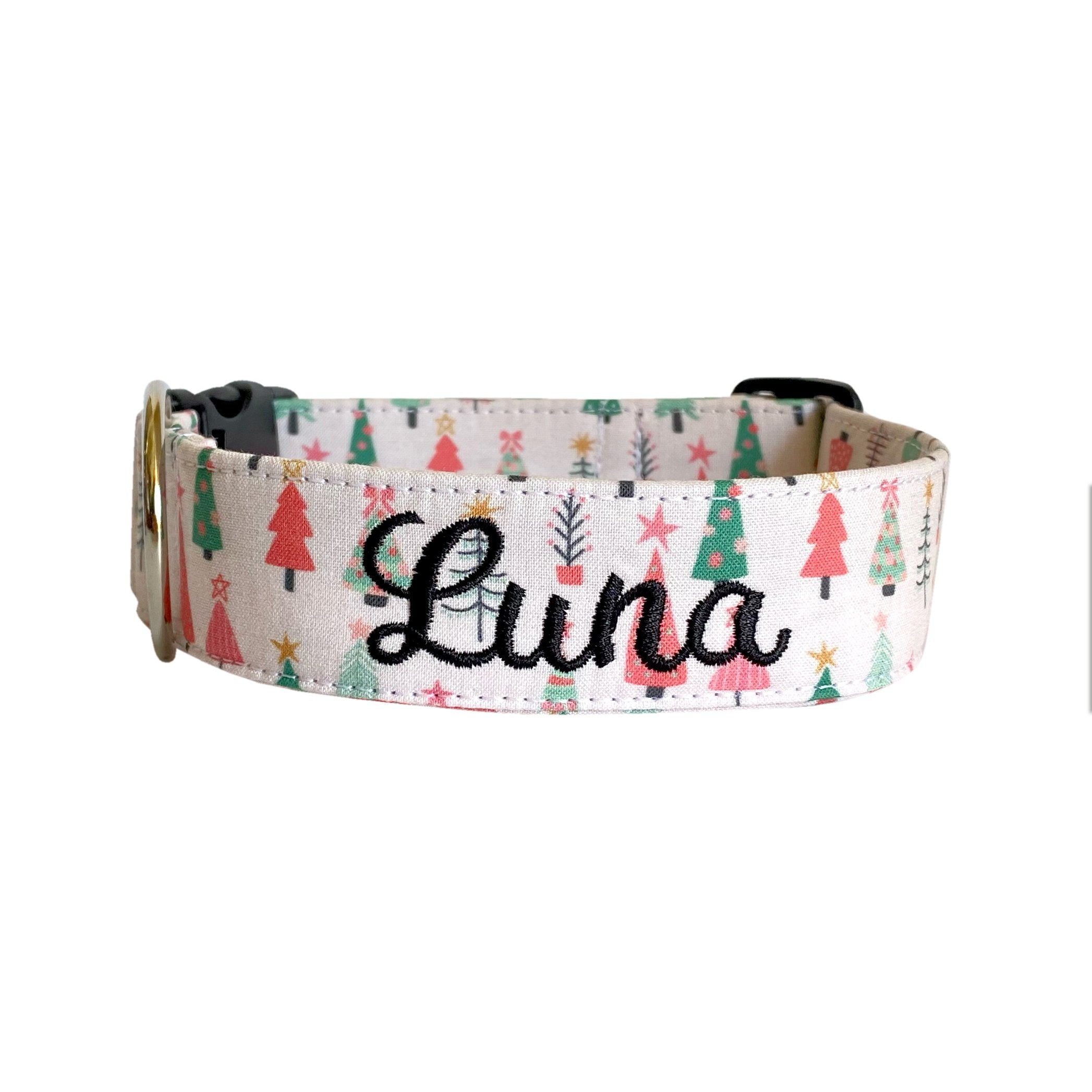 It's a Pink Christmas Dog Collar