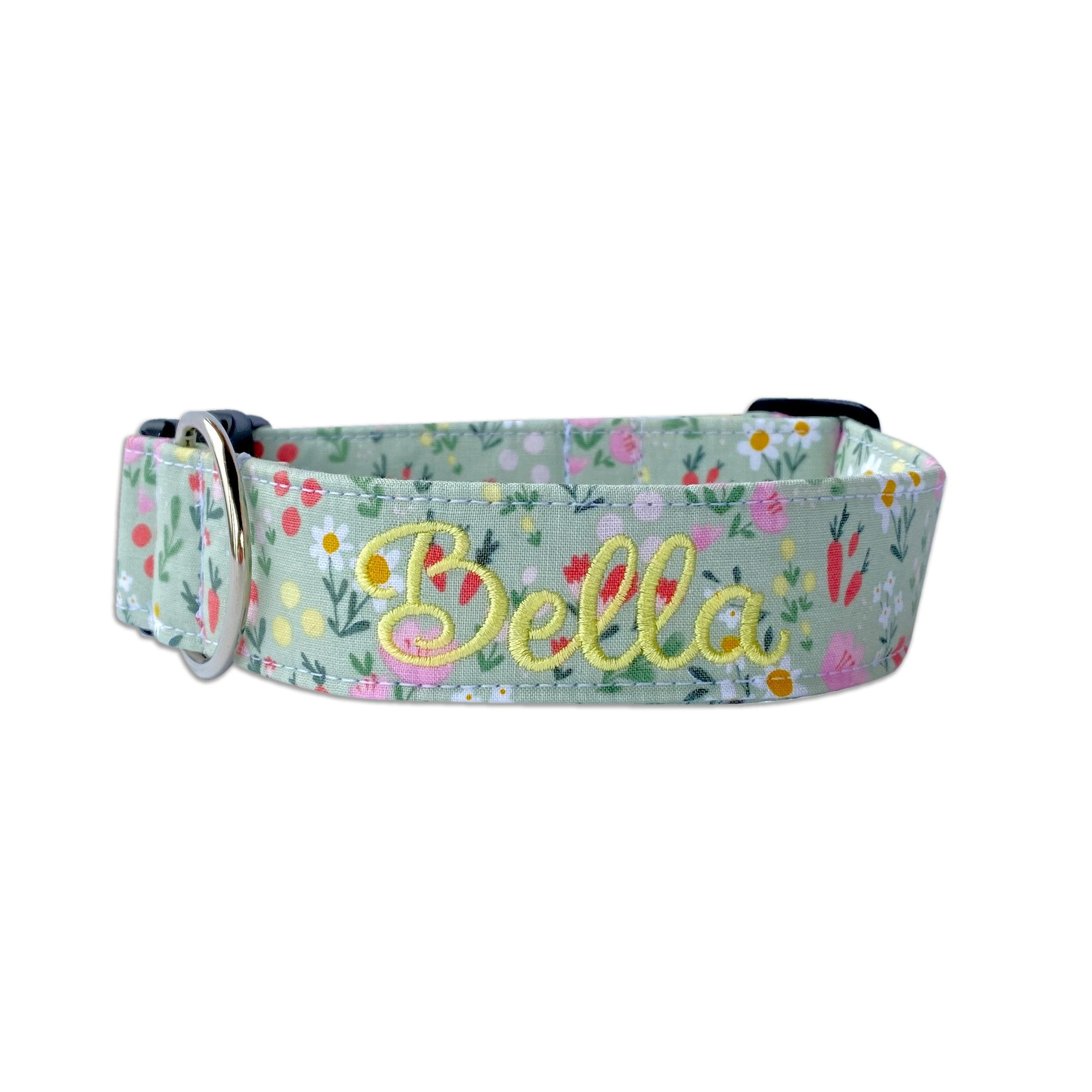 Carrots & Daisies Dog Collar