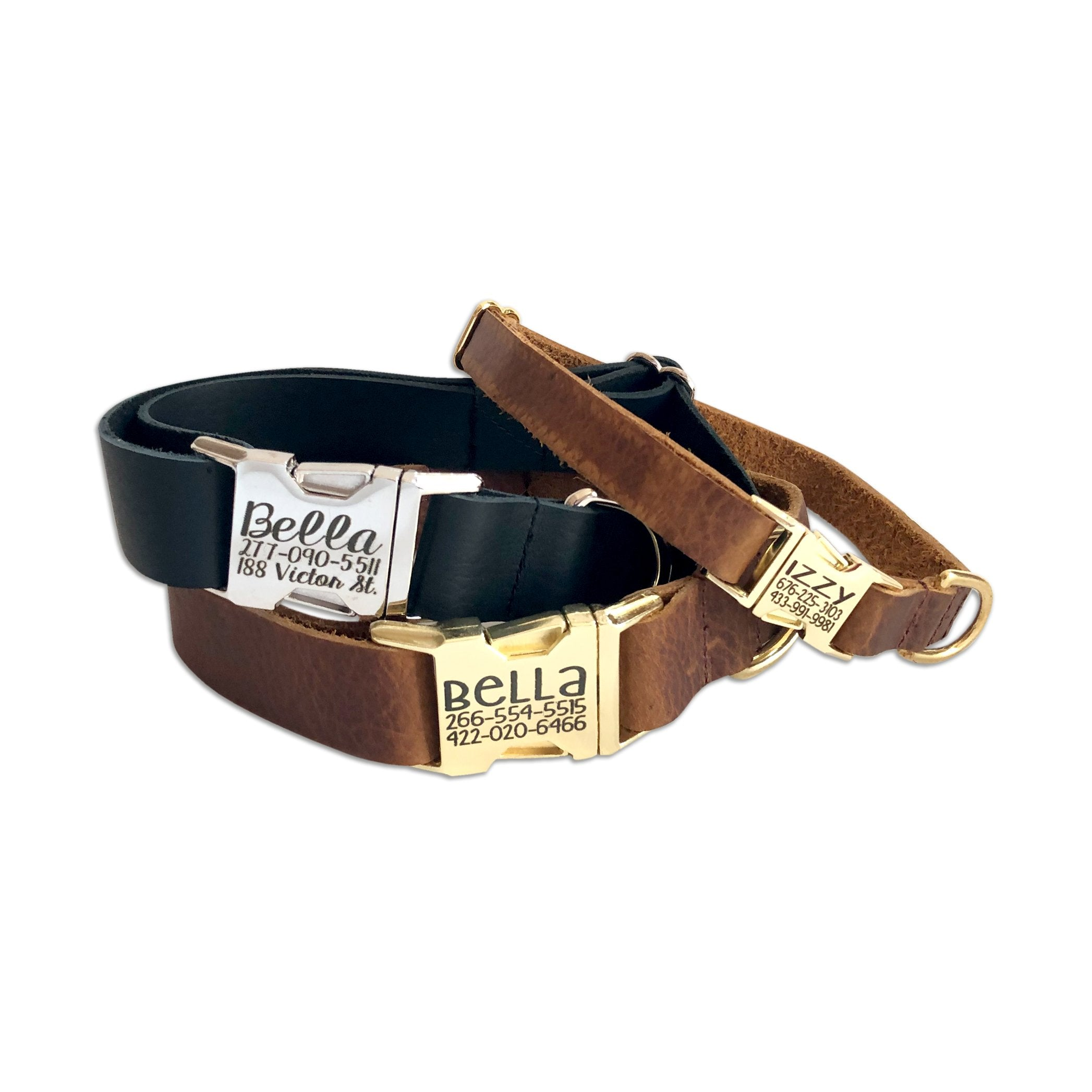 Leather Engraved Collar