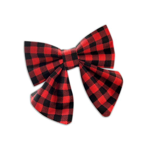 Buffalo Plaid Girly Bow