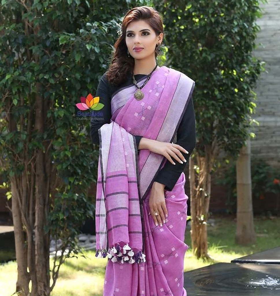 Linen Sarees And Interesting Facts Wrapping It!