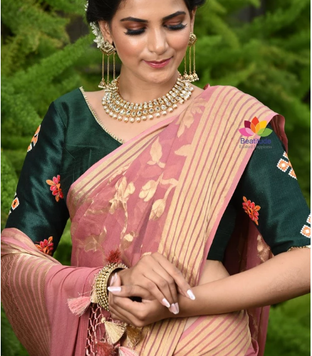 Ace The Slim Look By Draping These Handcrafted Designer Sarees