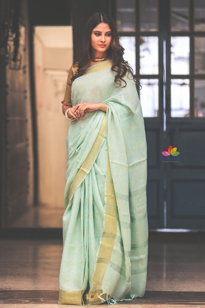 Easy To Drape and Carry through the Day – Refresh Your Wardrobe with an Elegant Linen Saree