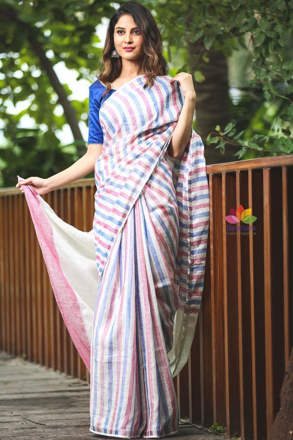 Buy Linen Sarees - A Hit Among all Seasons