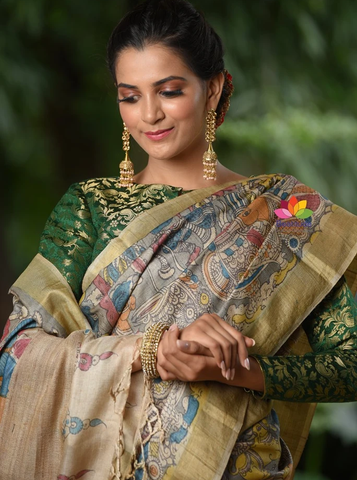 Buy Kalamkari Silk Sarees