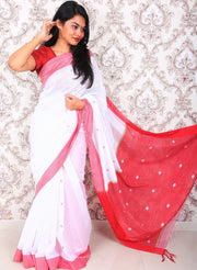Handwoven Cotton Silk Saree-SALE-Beatitude Label