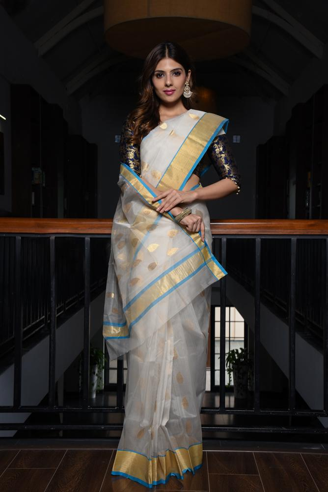 Chanderi Katan Silk Saree