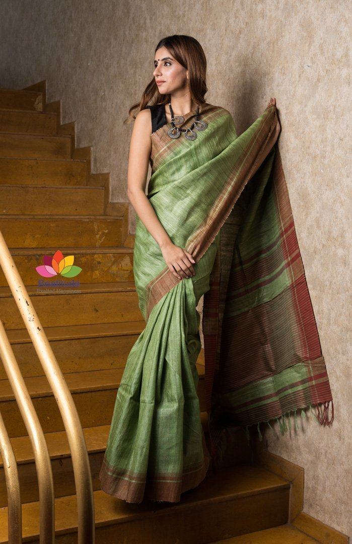 Handwoven Ghicha Silk Saree