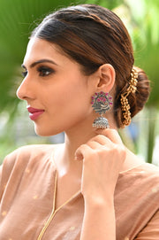 Handcrafted Indo Western Oxidized Earrings