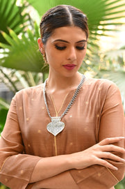 Handcrafted Indo Western Necklace with Two Tone Plating