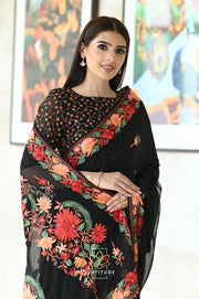 Multi Color Handwoven Printed Matka Silk Saree