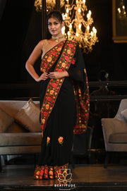 Handwoven Dupion Raw Silk Saree-Signature Collection-Beatitude Label