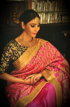 Handwoven Baluchari Silk Saree