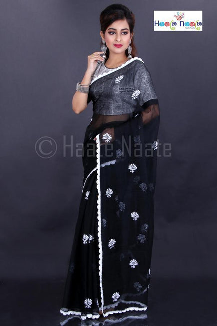 Kota Cotton Saree with Crochet Work