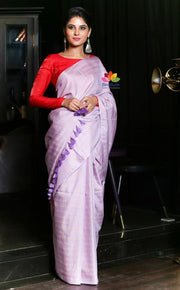 Lavender Shade Handwoven Kota Silk Saree
