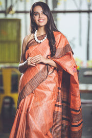 Handwoven Ghicha Silk Saree-Signature Collection-Beatitude Label