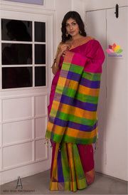 Pink Handloom Silk Saree-Elegante Collection-Beatitude Label