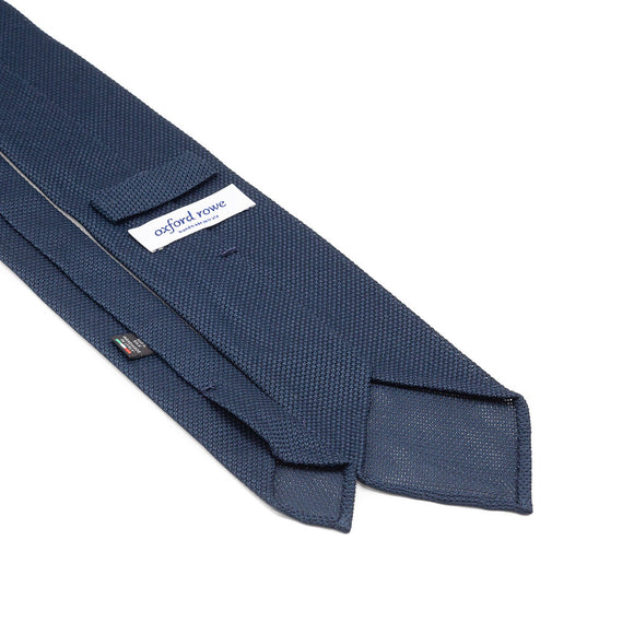 Grenadine Garza Fina Hand Rolled Tie (3.5 in) - Blue - Oxford Rowe
