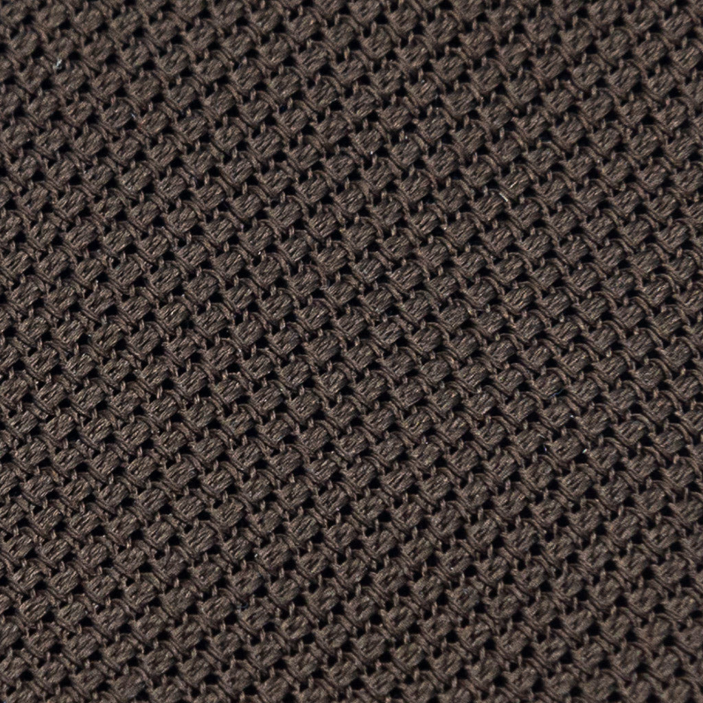 Grenadine Garza Fina Hand Rolled Tie (3.5 in) - Brown - Oxford Rowe