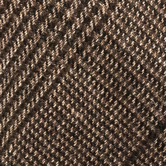 Plaid Wool Hand Rolled Tie - Brown and Black