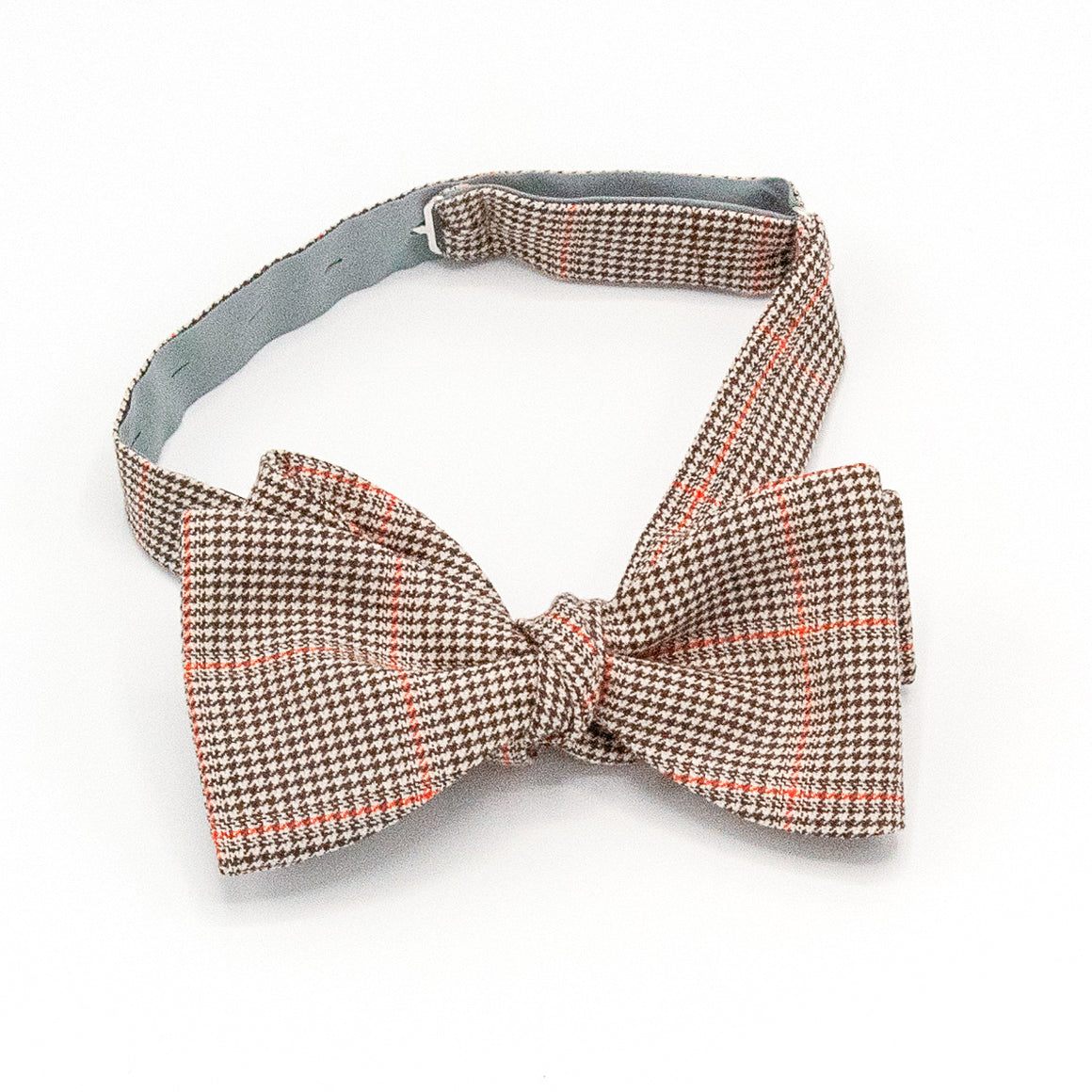 Check Wool Bow Tie - Brown