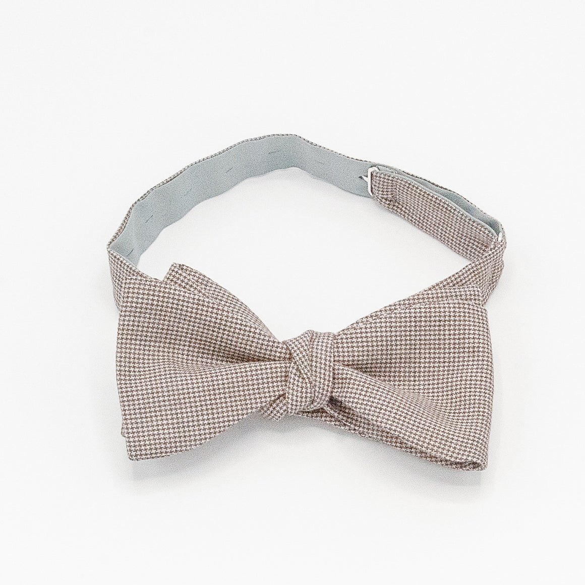 Puppytooth Wool Bow Tie - Brown