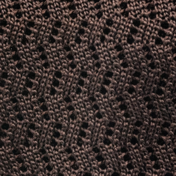 Zig Zag Silk Knit Tie - Chocolate