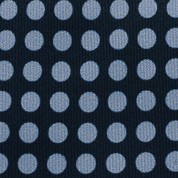 Polka Dot Printed Silk Tie - Navy - Oxford Rowe