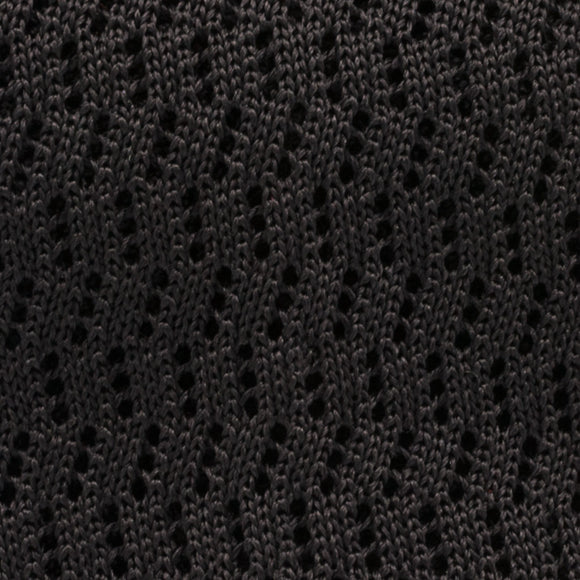 Zig Zag Silk Knit Tie - Charcoal - Oxford Rowe