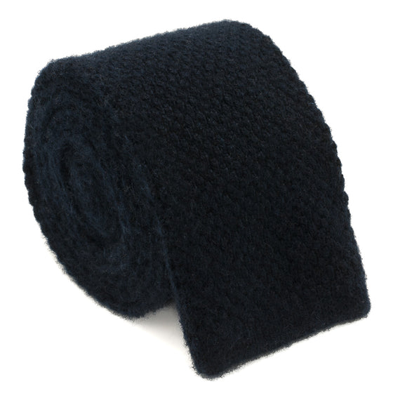 Cashmere Knit Tie - Navy - Oxford Rowe